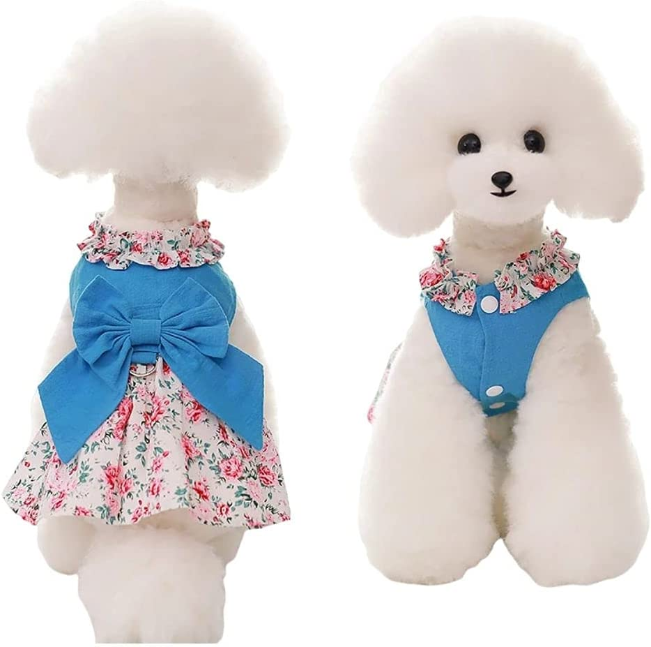Dog Dress with Leash RingLace Cats latest Har Set Purchase Harness