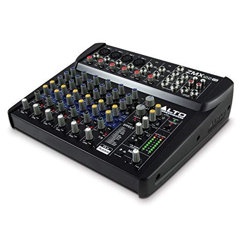 Alto Professional ZMX122FX –Kompaktes 8-Kanal Audiomischpult mit integrierten Effekten, vier XLR-Mikrofoneingängen und zwei Stereoeingängen