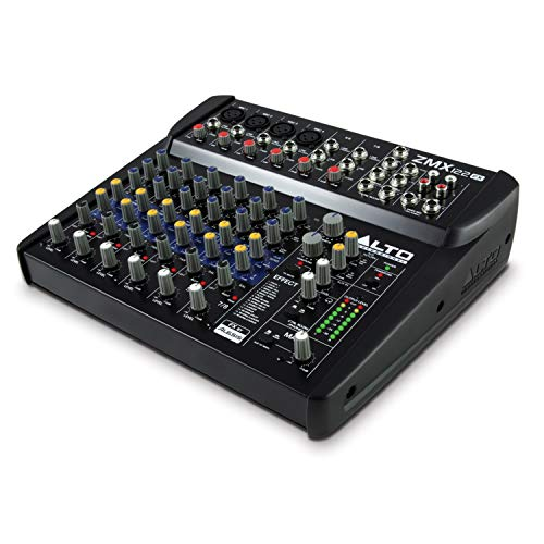 ALTO Professional ZMX122FX – 8 Channel Compact Audio Mixing Desk with Built-In Effects, Four XLR...