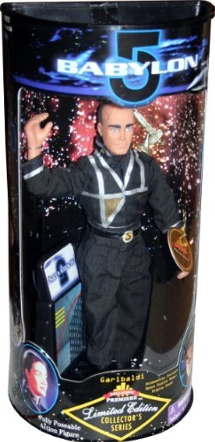 GARIBALDI Limited Edition 1997 Collector's Series  9 Inch  BABYLON 5 Action Figure and Display Stand by Exclusive Toy