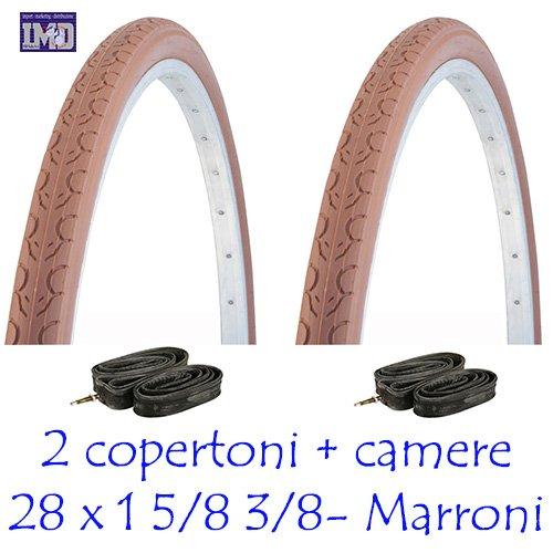 "KENDA 2 x Copertoni 700 x 35 28"" Marroni per Bicicletta Vintage/Classica/City Bike + 2 x CAMERE"