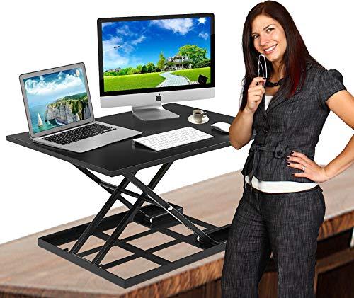 Standing Desk Stand Up Desk Height Adjustable Desk Standing Desk Converter Sit Stand Desk Converter Foldable Desk Adjustable Height Desk Folding Workstation Desk Riser Ergonomic Table Stand