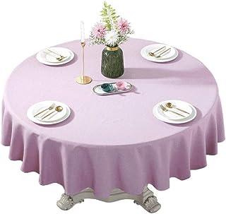 Gamvdout Élégant et Simple Table Ronde Minimaliste Moderne de Table Ronde en Coton et Lin Table Ronde Table Ronde Tapis de...