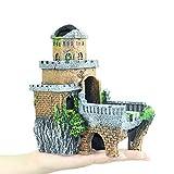 DALEI El Tanque del Acuario Ornamento Pescados de la decoración Kit Ruina Antigua Estilo Eco-Friendly Resina Material de Tanques de Agua Dulce Agua Salada