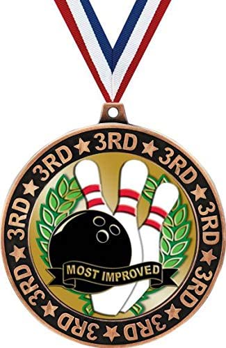 Bowling 3rd Place Perimeter Financial sales sale Medal Imp Bronze 2.75