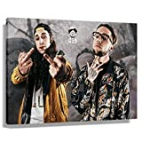 Uicideboy Painting Pictures Poster Print Art Canvas Wall Decor Horizontal Modern Pop Cool Colorful Painting Artwork for Christmas and New Year Gift (36 * 24inch,Unframed)