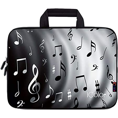 ATHG Laptop Sleeve Case Laptop Packs 3D Music Score Musical Note Piano Business Carrying Handbag Fit 13//15 Inch