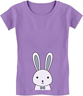 Cute Easter Bunny Boys/Girls Infant Girls' Fitted T-Shirt