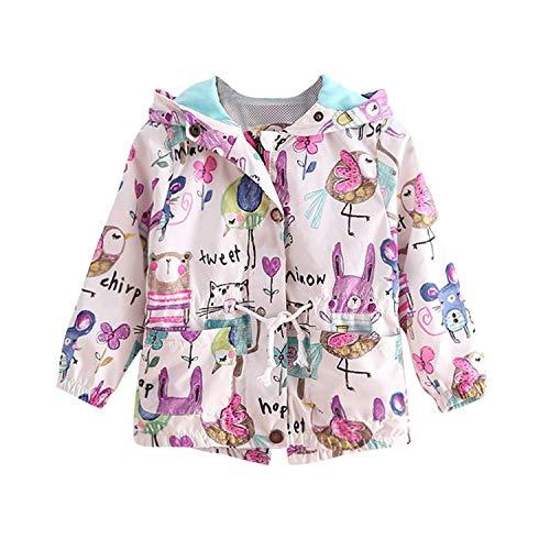 Chaquetas con capucha para niños y niñas con estampado de dibujos animados Outwear pintado a mano con protector solar ropa de bebé