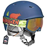 WildHorn Outfitters Spire Snow & Ski Helmet w/Goggles for Kids