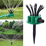 Aspersor de césped para jardín, riego de jardín pequeño, 360 grados, ajustable, sistema de riego flexible para césped, jardín y plantas de césped, plantas de césped de pequeña área