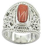 Riyo mobilier en Argent Sterling 925 splendide splendide Bague Rouge Cadeau FR