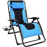 OT QOMOTOP Zero Gravity Chair, Oversized 22.8'' Adjustable Padded Seat, Lounge Reclining Patio Chair...