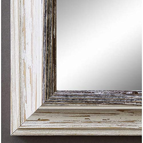Spiegel Wandspiegel Badspiegel Flurspiegel Garderobenspiegel - Über 200 Größen - Bari Beige Weiß Schwarz 4,2 - Außenmaß des Spiegels 40 x 60 - Wunschmaße auf Anfrage - Antik, Barock