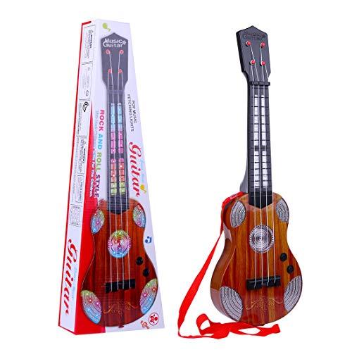 TETAKE Kindergitarre Elektrisch E-Gitarre Kinder 4 Saiten Rockgitarre Spielgitarre mit Vielen Möglichkeiten für Kleinkinder