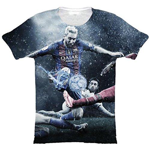 V.V. Camiseta Sublimation Lionel Messi 2017 FC Barcelona/Real Madrid (Small)