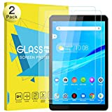 MoKo Screen Protector Compatible with Lenovo Tab M8, [2-Pack] [Anti-Scratch] Round Edge 9H Hardness Ultra Clear Tempered Glass Screen Protector Film Fit Lenovo Tab M8/Smart Tab M8 8 inch 2019 - Clear