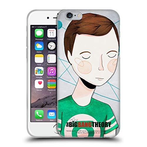 Head Case Designs Licenza Ufficiale The Big Bang Theory Doodle Sheldon Grafici Arti 2 Cover in Morbido Gel Compatibile con Apple iPhone 6 / iPhone 6s