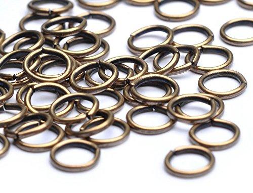 Beads Unlimited 7 mm Anneaux de jonction Lot de 500, Or Antique