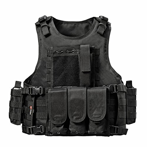 YAKEDA Ventilateurs Ventilateurs Armée Tactique Vest CS Champ Swat Tactical Army Vest Vest extérieure CS Jeu Vest Cosplay de Counter Strike Jeu Vest-322