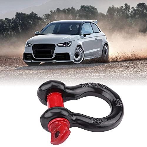 OKBY D Ring Shackles Schwarz&rot - Tragfähigkeit 4.75T/10,000lbs-8T/17.000lbs, schäkel Stahl+Verzinkt, für Fahrzeug Wiederaufnahme Schleppt (Size : S)