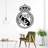 Fußball Real Madrid Logo Wandkunst Aufkleber Vinyl