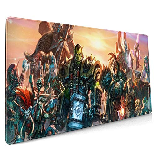 Professional Gaming Mouse Pad for Classic Heroes, Mousepad with Anti-Skid Rubber Base & Stitched Anti-Fray Edges,Waterproof Mouse Mat,Desk Pad,Great for Laptop Computer & PC 11.8x23.6x0.12 inch