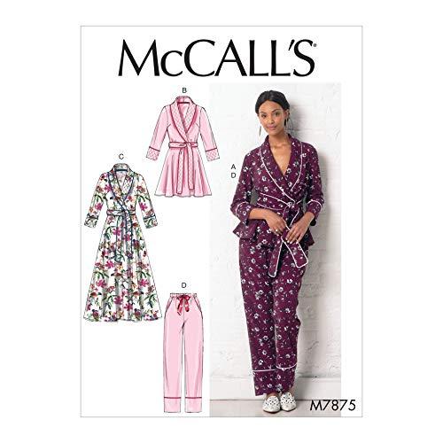 McCalls Schnittmuster 7875 Nachtwäsche, Pyjama, Bademäntel Z (LRG-XLG)