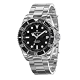 LANDWIN orologio da polso da uomo automatico orologio subacqueo bracciale in acciaio inossidabile analogico orologio impermeabile movimento automatico orologio da uomo impermeabile 100M