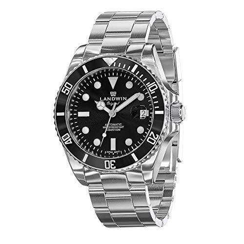 LANDWIN orologio da polso da uomo automatico orologio subacqueo bracciale...