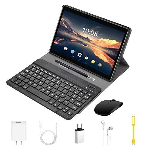 4G Tablet 10 Pollici con WIFI Offerte Android 9.0 Quad Core 4GB RAM 64GB ROM Fino a 128GB 8000mAh WIFI Tablet 8Pcs DUODUOGO P6 Fotocamera 8MP 1920*1200 Dual SIM Bluetooth GPS OTG (P6 - Nero)