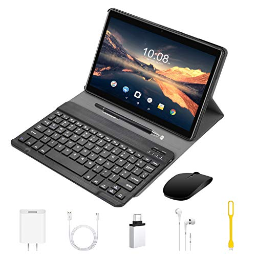 4G Tablet 10 Pollici con WIFI Offerte Android 9.0 Quad Core 4GB RAM 64GB ROM/Fino a 128GB 8000mAh WIFI Tablet 8Pcs DUODUOGO P6 Fotocamera 8MP 1920*1200 Dual SIM Bluetooth GPS OTG (P6 - Nero)