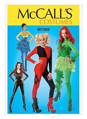 McCall \'s Damen Schnittmuster 7269Bodys & Rüschen Rock Kostüme + Gratis Minerva Crafts Craft Guide