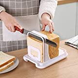 Bread Slicer,Adjustable Toast Slicer Toast Cutting Guide Folding Bread Toast Slicer Bagel Loaf