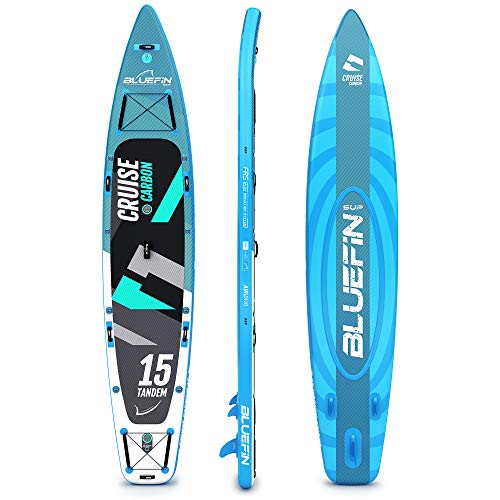 Bluefin SUP 15' Sup Inflable Carbono, Unisex, Gris Oscuro