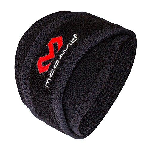 [ マクダビッド ] Mcdavid ひじ用サポーター エルボーバンドDP Sサイズ 左右兼用 489 ブラック SPORTMED Elbow Strap w/pads Black テニス肘 野球肘 スポーツ [並行輸入品]