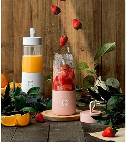 ECSWP Mini Portable Électrique Fruit Juicer USB Rechargeable Smoothie Maker Blender Machine De Tasse De Fruits Juicing Coupe De Cuisine Mixer (Color : Pink) Pink