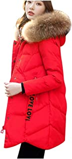Berryhot Fashion Women Winter Warm Cotton Hooded Winter Jacket Long-Sleeved Overcoat for Fall Winter