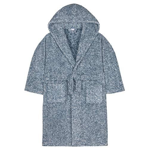 Jongens Jurk Twee Toon Sherpa Snuggle Fleece Hooded Dressing Jurk Kids Badjas Slaapmode