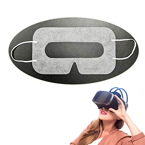 YinQin Universal Einweg-VR-Cover VR-Maske für VR, Sanitär VR Cover, VR Maske Einweg GesichtsCover für VR, VR Einweg Cover, VR Augen Cover, Weiß (100 Stück)