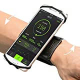VUP iPhone X/ 8/8 Plus7/ 7 Plus/ 6/ 6S Plus Wristband, 180° Rotatable Phone Holder Forearm Armband Ideal for Jogging Running Compatible with Samsung Galaxy S8/S7 & 4.0'-5.5' Smartphone (Black)