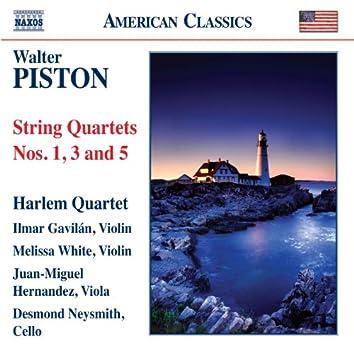 Piston: String Quartets Nos. 1, 3 & 5