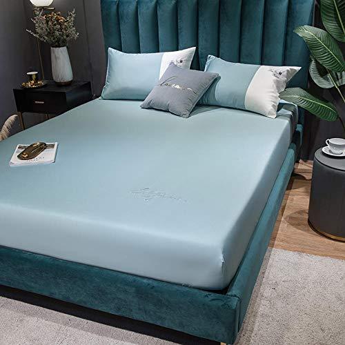 CYYyang Funda de Colchón con Tratamiento Antiácaros y Transpirable Sábana de algodón Puro Color Puro-7_150 * 200cm