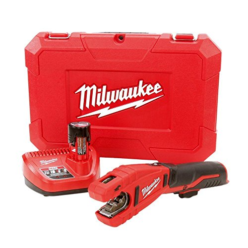 """M12 Cordless 12V Lithium-Ion Copper Tube Cutter with one Battery, Charger and Case, 4.7"""" x 17.6"""" x 12.3"""""""