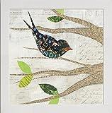 Frame Company Watson Courtney Prahl Uccelli in Primavera III Square Telaio, Bianco, 10x 25,4cm, Legno, White, 12 x 12 Inches