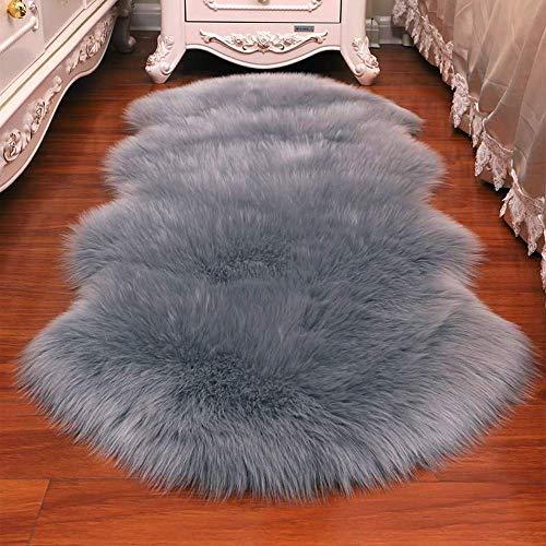 bedee Faux Sheepskin Rugs (60x160cm) Faux Fleece Chair Cover Seat Pad Soft Fluffy...