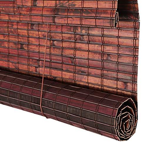 XINGLL - Cortina de bambú con patrón de piel de tigre, protección solar de bambú, ventilación para hipódromo al aire libre (color: rojo, tamaño: 135 x 225 cm)