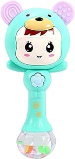 Anniston Kids Toys, Cartoon Shaking Rattle Newborn Baby Hand Bell Music Light Rhythm Teether Toy Smart Toys Perfect Fun Ti...