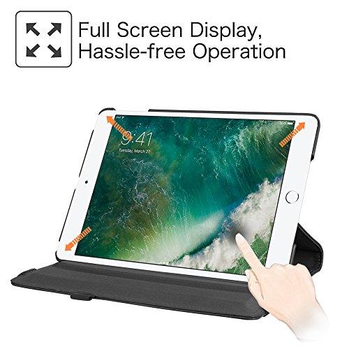 Fintie iPad 9.7 Zoll 2017 / iPad Air Hülle – 360 Grad Rotierend Stand Smart Cover Case Schutzhülle mit Auto Schlaf / Wach Funktion für Apple iPad 2017 Neue Modell / iPad Air 2013 Modell, Schwarz - 2
