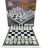 Matty's Toy Stop Deluxe Frosted & Clear Glass Chess Set (14') Large